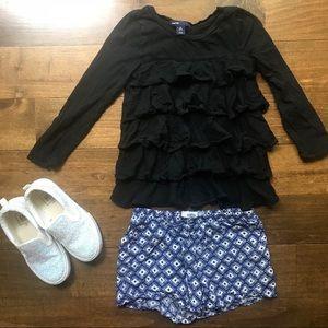 Black Ruffle Shirt Gap Kids